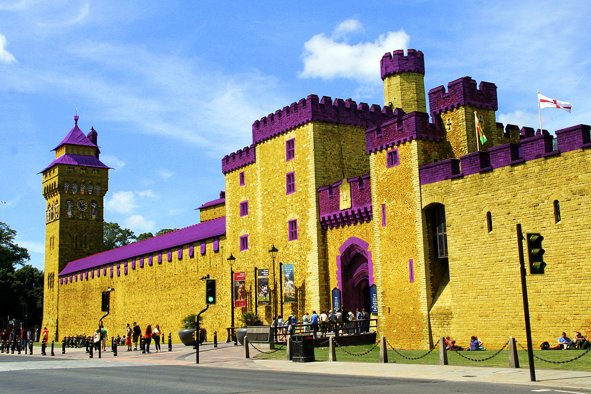 Cardiff Castle To Be Painted Yellow & Purple After Deliverbuzz Buys Sponsorship Rights!